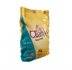 Ração Quatree Gourmet para Gatos Adultos Sabor Peixe 3kg
