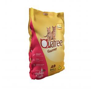Ração Quatree Gourmet para Gatos Filhotes Sabor Carne e Leite 1kg