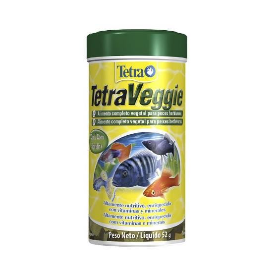 Ração para peixe Tetra Veggie Spirulina Flakes