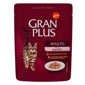 Ração Úmida GranPlus Para Gatos Adultos Sachê Sabor Salmão 50g