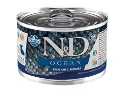 Ração Úmida Lata Farmina N&D Ocean Bacalhau & Abóbora para Cães Filhotes 140g