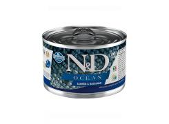 Ração Úmida Lata N&D Ocean Salmão & Bacalhau para Cães Adultos 140g