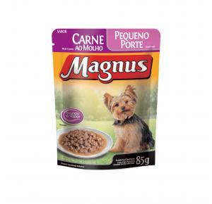 Ração Úmida Magnus Cães Adultos Pequenos Carne 85gr Adimax