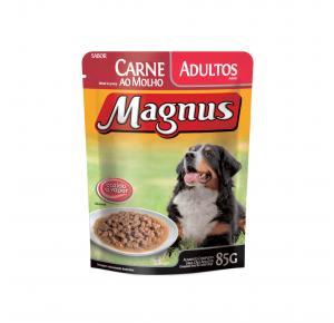 Ração Úmida Magnus Sachê Cães Adultos Carne 85gr Adimax