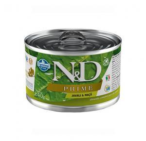 Ração Úmida N&D Prime Grain Javali & Maça para Cães Adultos Lata 140g