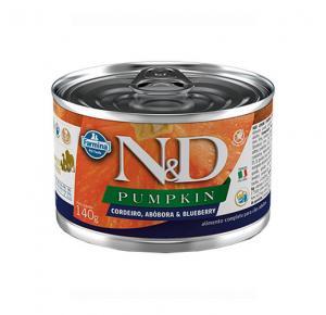 Ração Úmida N&D Pumpkin Cordeiro, Abóbora & Blueberry para Cães Adultos Lata 140g