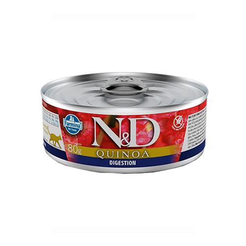 Ração Úmida N&D Quinoa Digestion para Gatos Adultos Lata 80g