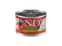 Ração Úmida N&D Quinoa Skin & Coat Arenque & Coco para Cães Adultos Lata 140g