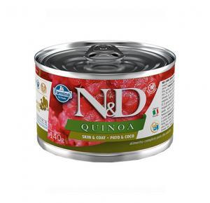 Ração Úmida N&D Quinoa Skin & Coat Pato & Coco para Cães Adultos Lata 140g