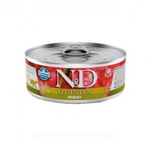 Ração Úmida N&D Quinoa Urinary para Gatos Adultos Lata 80g