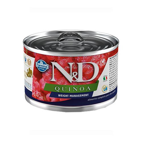 Ração Úmida N&D Quinoa Weight Management para Cães Adultos Lata 140g