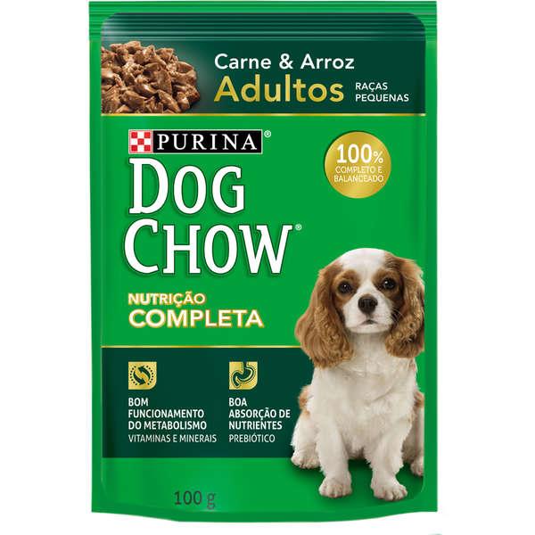 Ração Úmida Nestlé Purina Dog Chow Carne para Cães Adultos Raças Pequenas 100g