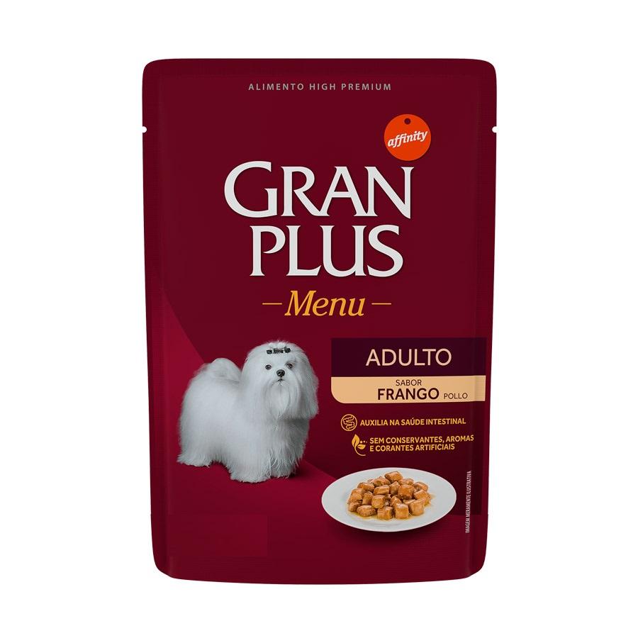 Ração Úmida Sachê GranPlus Menu para Cães Adultos sabor Frango 85g