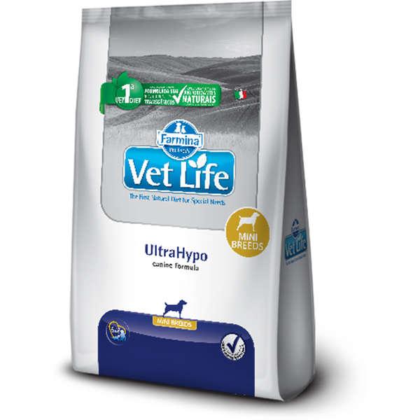Ração Vet Life Natural Cães UltraHypo Raças Pequenas 2kg
