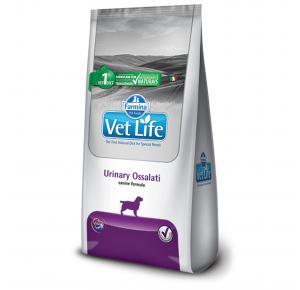 Ração Vet Life Natural Canine Urinary Ossalati para cães 10.1kg