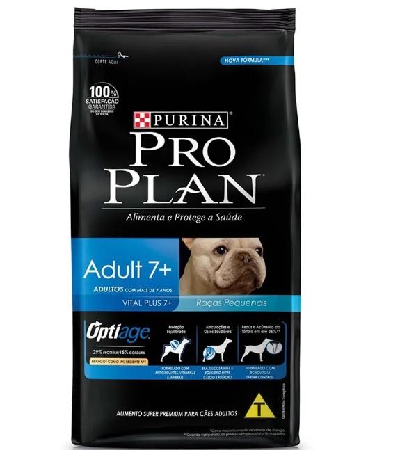 Ração para Cães Adultos 7+ Raças Pequenas Pro Plan Purina 2kg