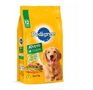 Ração Pedigree Carne e Vegetais para Cães Adultos Raças Médias e Grandes 1kg
