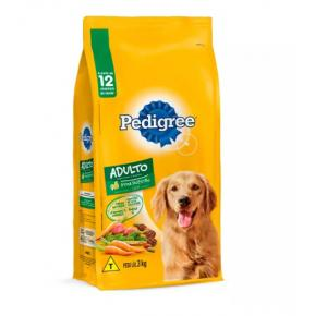 Ração Pedigree Carne e Vegetais para Cães Adultos Raças Médias e Grandes 3kg