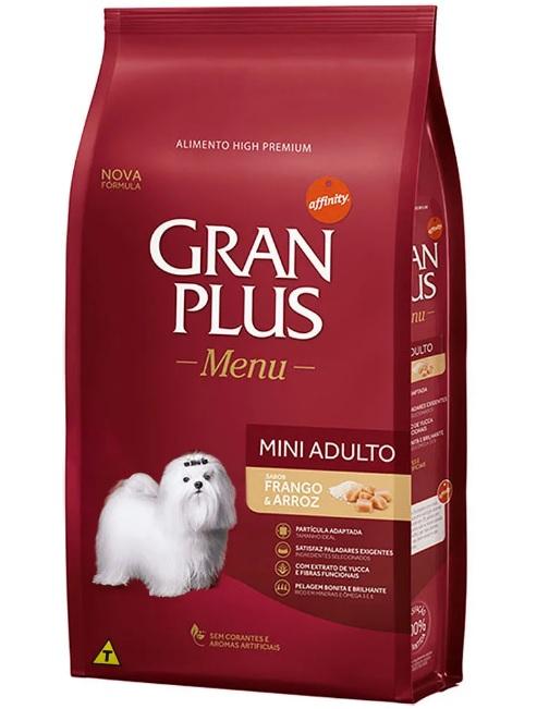 Ração para Cães Adultos Mini Gran Plus Menu Frango e Arroz 10.1kg