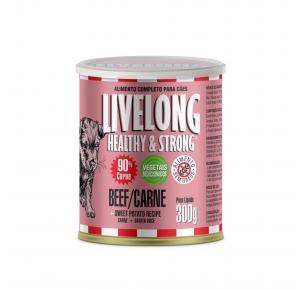 Ração Úmida Cão Carne + Batata Doce 300gr Livelong