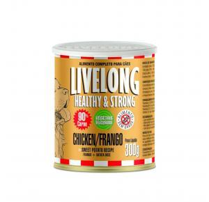 Ração Úmida Livelong Cão Frango + Batata Doce 300gr