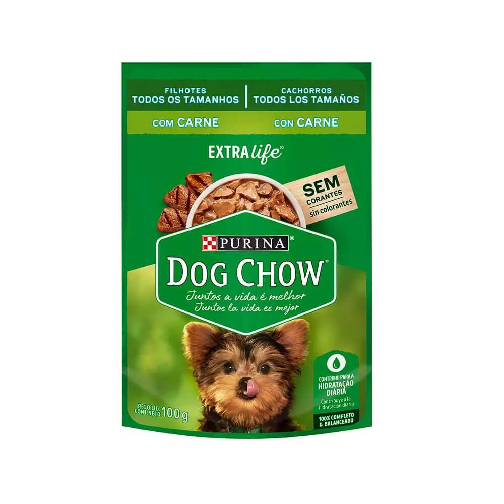 Ração Úmida Purina Dog Chow Carne e Arroz para Cães Filhotes Raças Pequenas 100g Nestlé