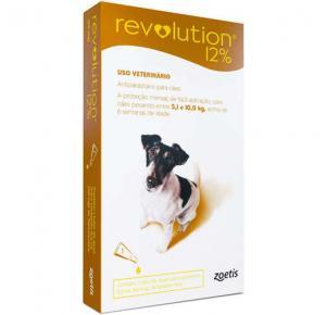 Revolution Zoetis 12% 0,5ml para Cães de 5,1Kg a 10kg