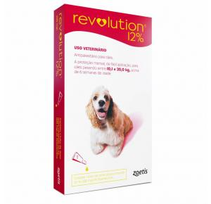 Revolution Zoetis 12% 1ml para Cães de 10,1Kg a 20kg