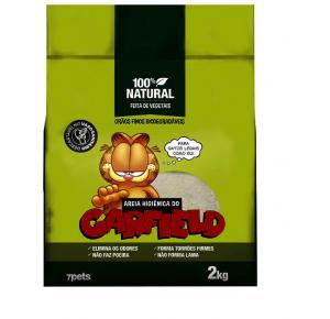 Areia Higiênica Garfield Bio Fina Verde  - 2kg