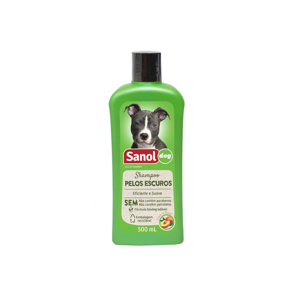Shampoo para Pelos Escuros Sanol Dog 500ml