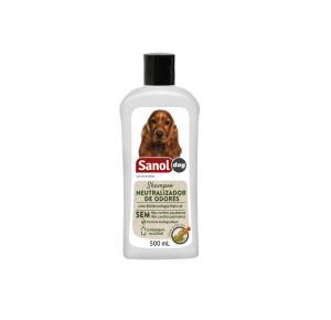 Shampoo Neutralizador de Odores para Cães e Gatos Sanol Dog 500mL