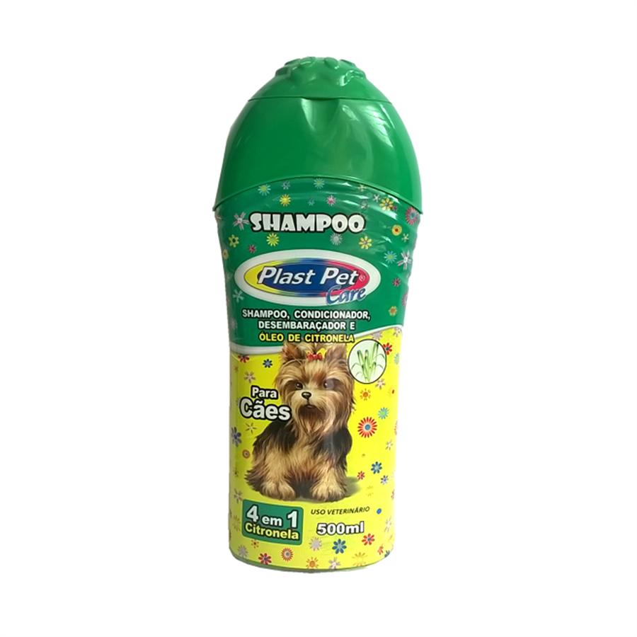 Shampoo Plast Pet Care 4 Em 1 Citronela 500ml