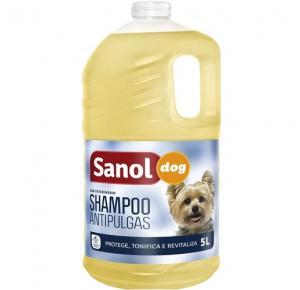 Shampoo Sanol Dog Antipulgas 5 litros