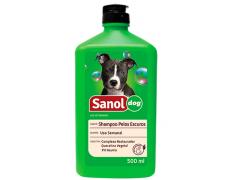 Shampoo Sanol Dog para Pelos Escuros 500mL