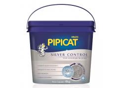 Areia Higiênica Pipicat Silver Control para Gatos - 4kg