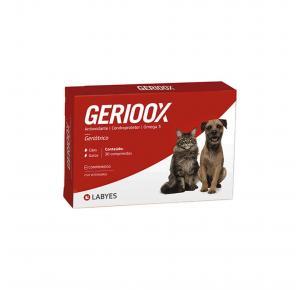 Suplemento Gerioox Antioxidante Condroprotetor e Ômega 3 para Cães e Gatos 30 Comprimidos Labyes