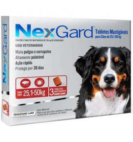 NexGard antipulgas cães de 25,1 a 50 Kg - 3Tablets