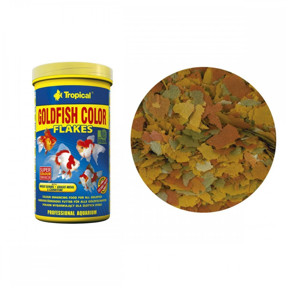 Tropical goldfish color flakes 50g