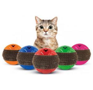 Cat Play Bolinha, Arranhador E Petisqueira - Truqys Pet-Cores