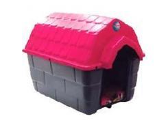 Casa nº 03 Ideal Dog Base Cinza Telhado Azul/Vermelho/Rosa/ Com Calchão