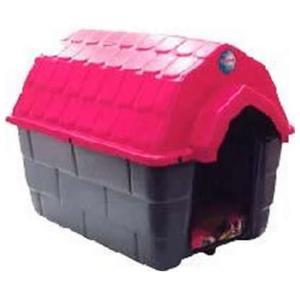 Casa nº 00 Ideal Dog  Base Cinza Telhado Rosa