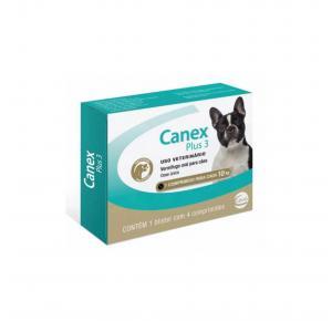Vermifugo Canex Plus até 10kg com 4 Comprimidos Ceva