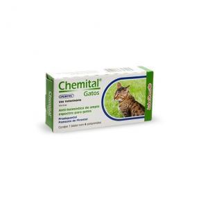 Vermífugo Chemital Gatos (4 comprimidos)