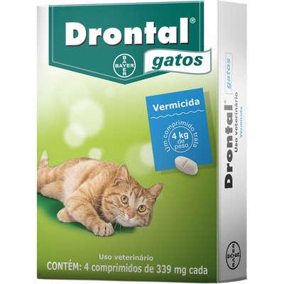 Vermífugo Drontal para Gatos (4comprimidos)