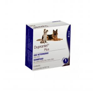 Vermífugo Duprantel Plus para Cães com 4 Comprimidos Duprat