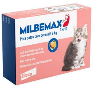 Vermifugo Milbemax FC Gatos até 2 Kg (2 comprimidos)
