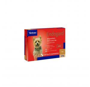 Vermífugo Endogard para Cães até 2.5kg com 2 Comprimidos Virbac