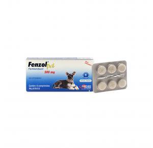 Vermífugo Fenzol com 6 Comprimidos Agener União 500mg