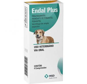 Vermífugo cães Endal Plus MSD (4 Comprimidos)