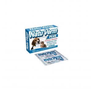 Vermífugo NatuVerm Plus Sabor Carne VetBras 660mg